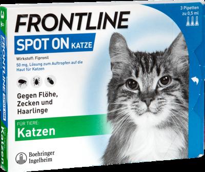 FRONTLINE Spot on K Lösung f.Katzen 3 St