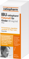 IBU RATIOPHARM Fiebersaft für Kinder 40 mg/ml
