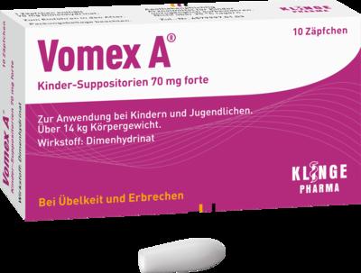 VOMEX A Kinder-Suppositorien 70 mg forte 10 St