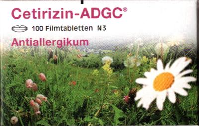 CETIRIZIN ADGC Filmtabletten 100 St