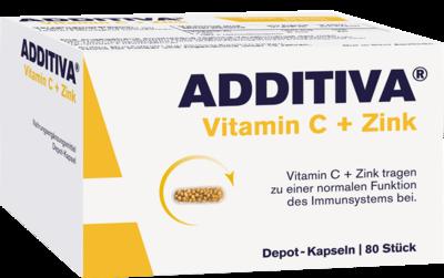 ADDITIVA Vitamin C+Zink Depotkaps.Aktionspackung 80 St