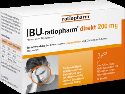 IBU-RATIOPHARM direkt 200 mg Pulver zum Einnehmen 20 St