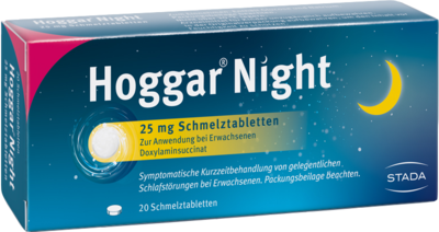 HOGGAR Night 25 mg Schmelztabletten 20 St
